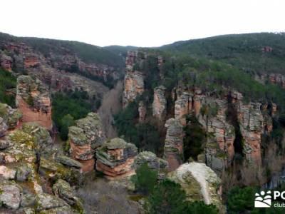 Hoces y cañones del Río Gallo - viaje Guadalajara;sendero gr 11 botas para senderismo